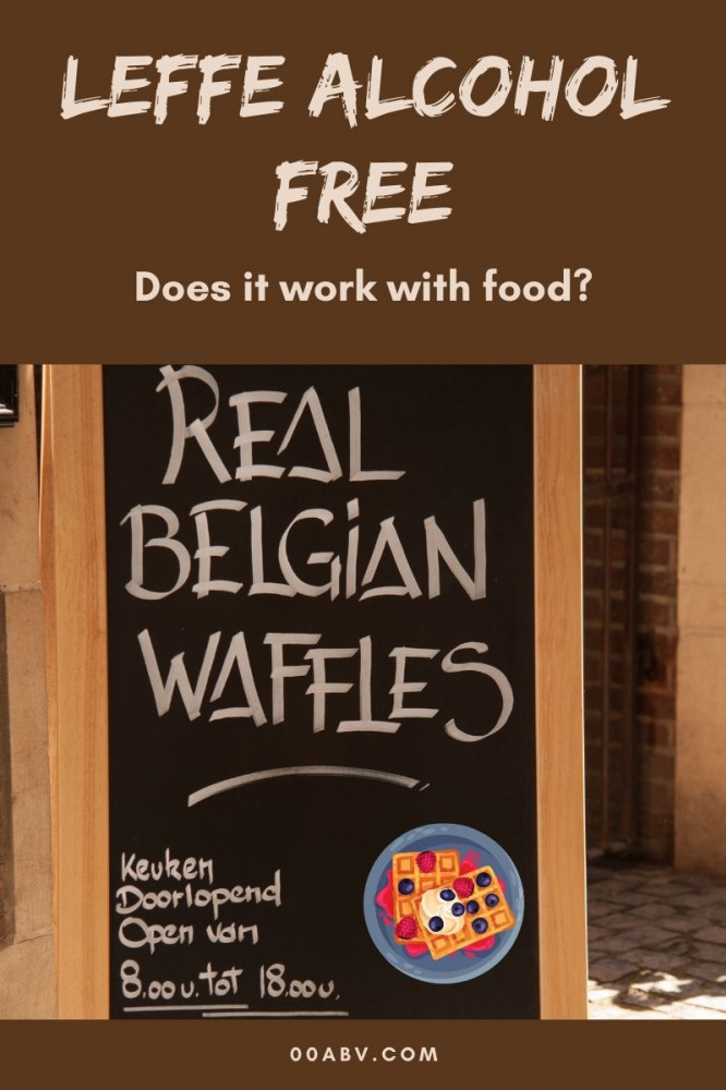 Leffe Alcohol Free and Food