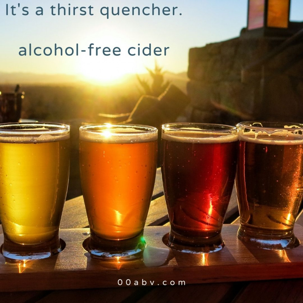 It's a thirst quencher this alcohol-free cider