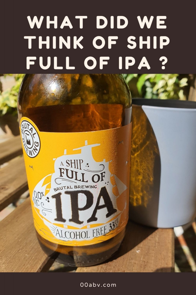 A ship full of IPA Alcohol-Free