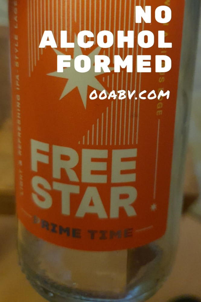 Free Star Beer has no alcohol formed