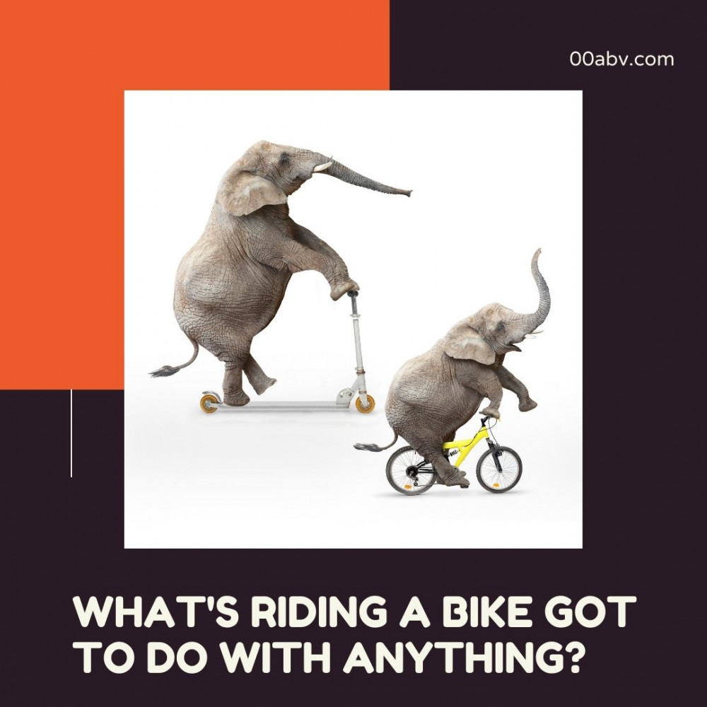 Habits Are Formed Like Riding A Bike
