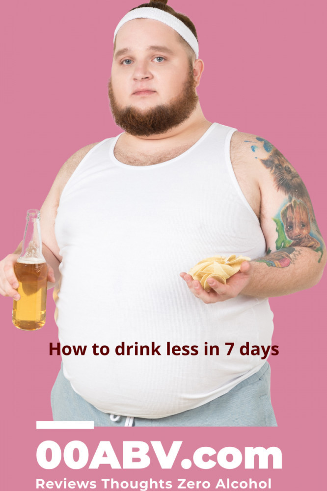 How to drink less in 7 days