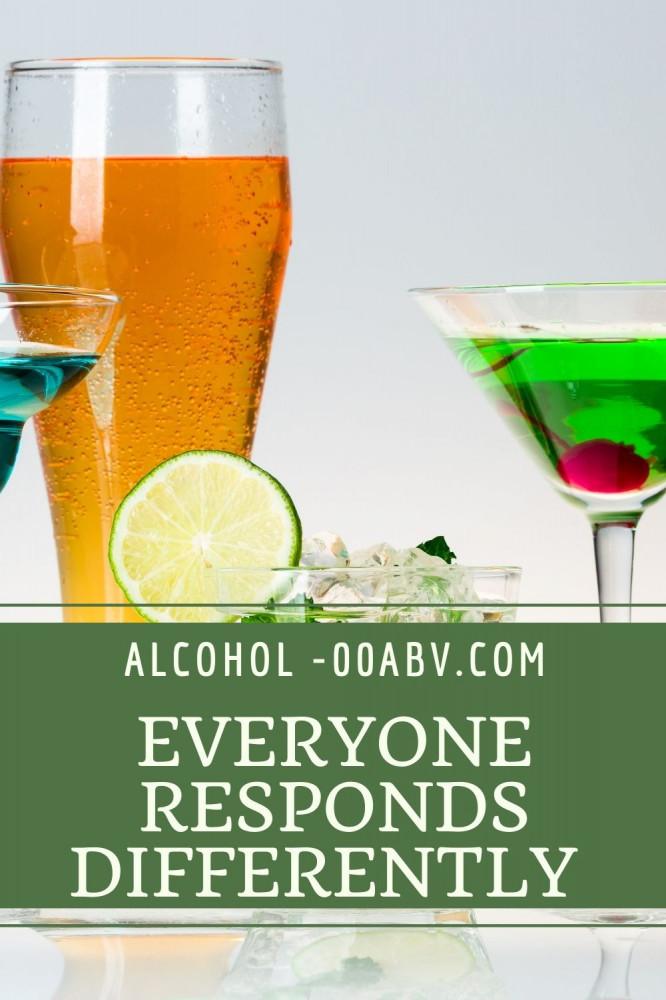 Everyone Respond Differenty To Alcohol
