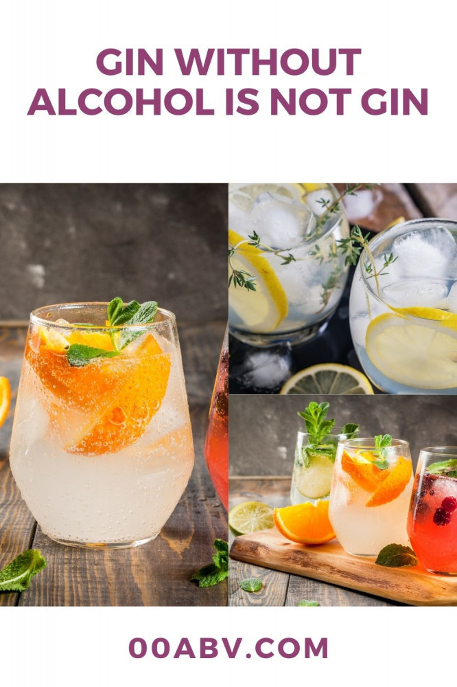 Gin Without Alcohol Is Not Gin
