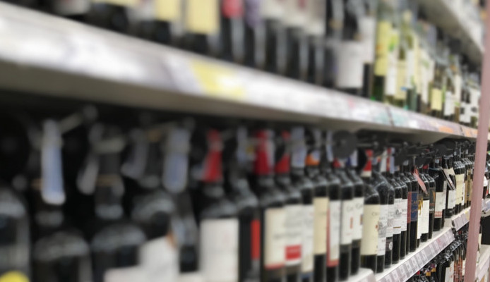 Alcohol in a supermarket and alcohol free