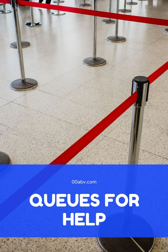 Is the a queues for help for alcohol ?
