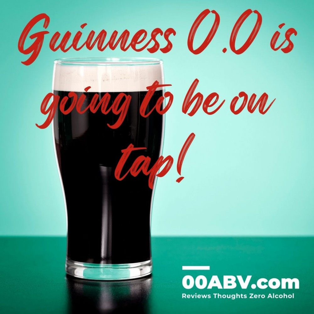 Guinness 0.0 is going to be on tap!