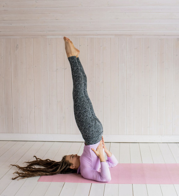 Shoulder Stand Yoga Pose 2