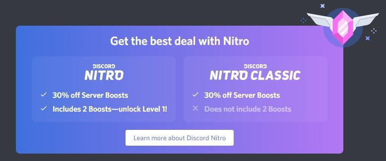 discord nitro vs discord nitro classic