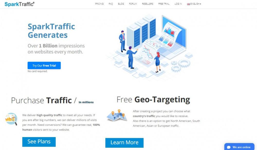 spark traffic website traffic generator