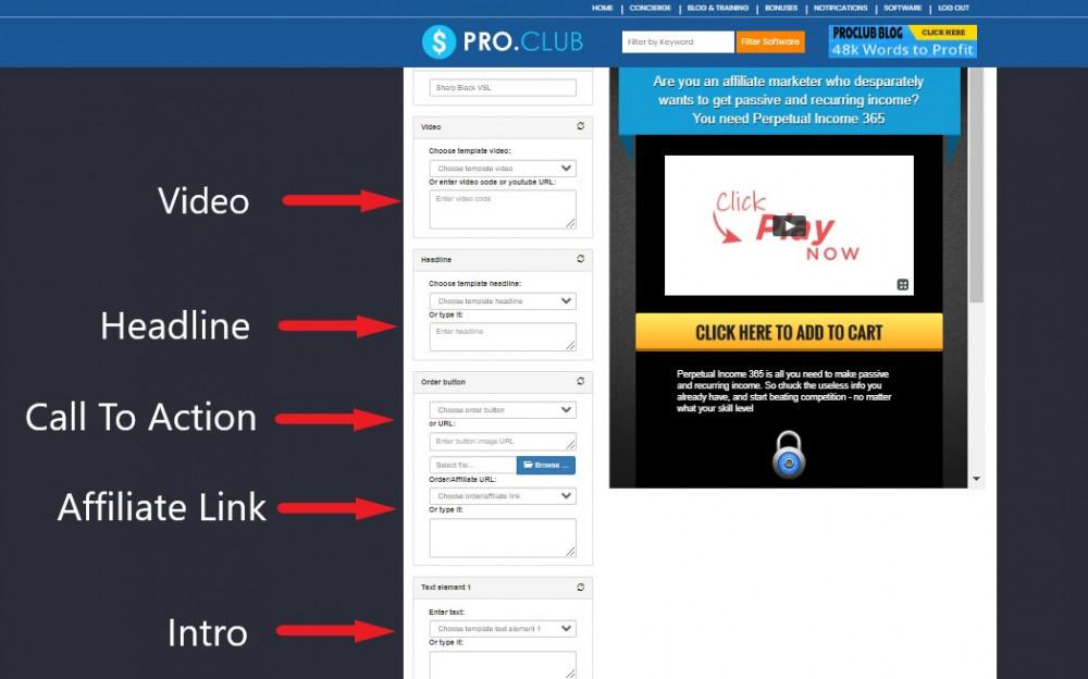 video sales letter affiliate bots