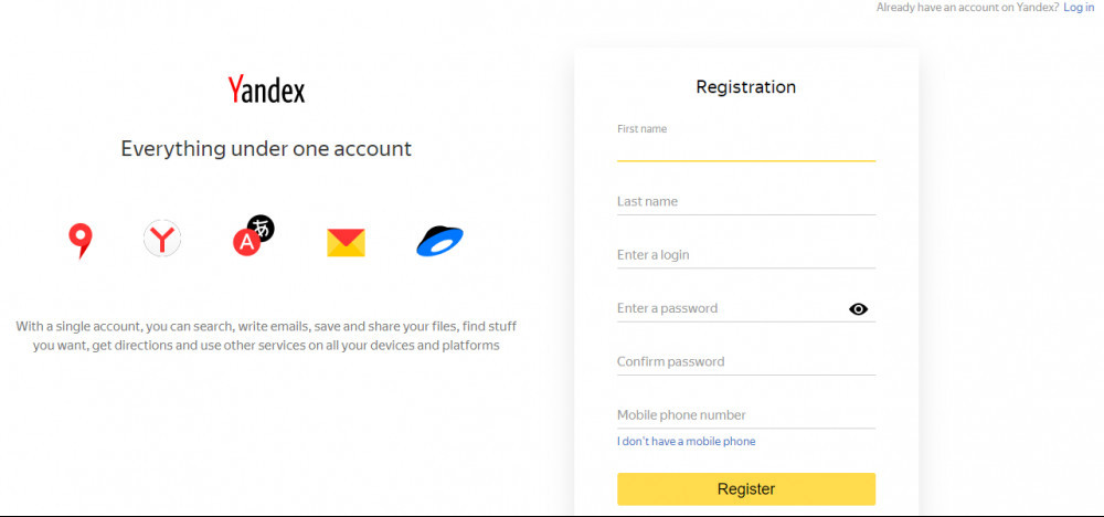 how to verify your website with yandex