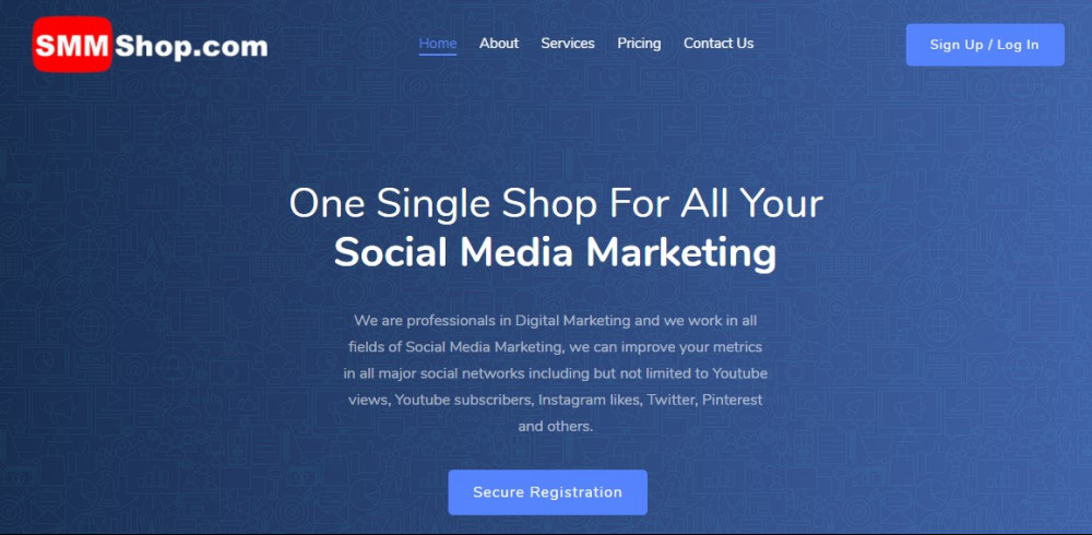 smmshop website and social media traffic generator
