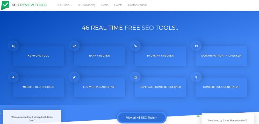 seo review tools free seo tools