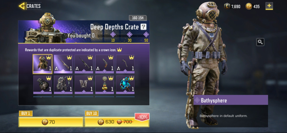 Deep Depths Crate