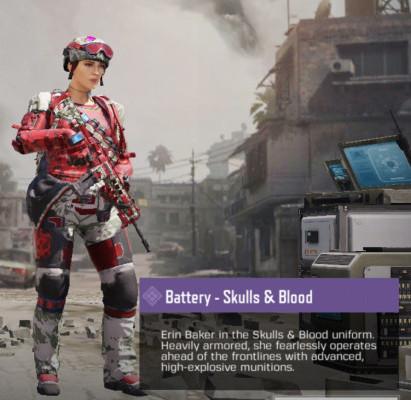Battery - Skulls & Blood