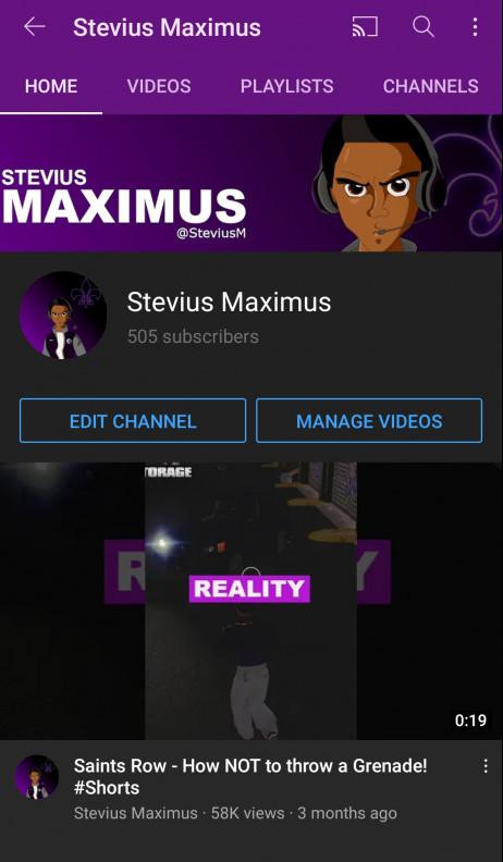 Stevius Maximus YouTube