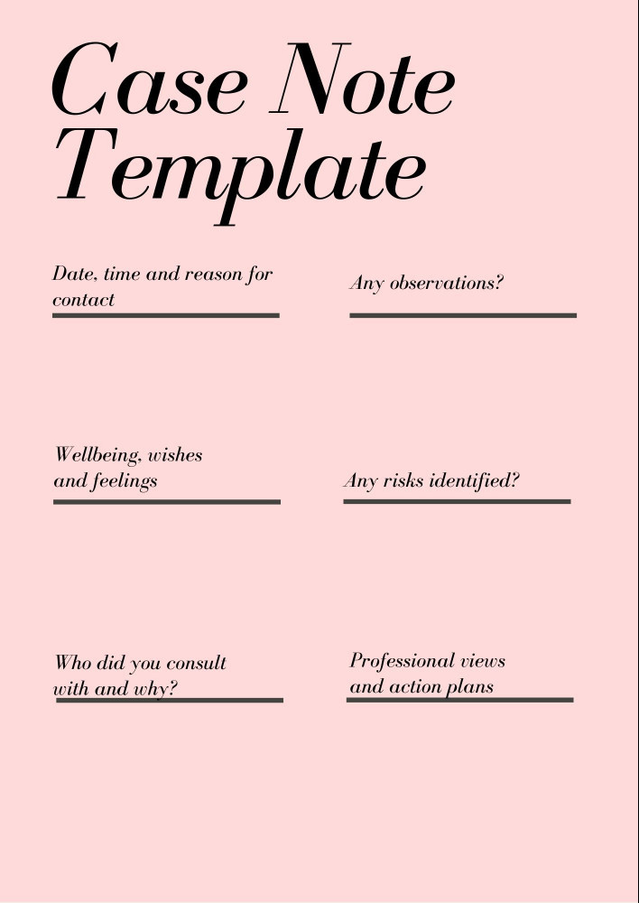Case note template