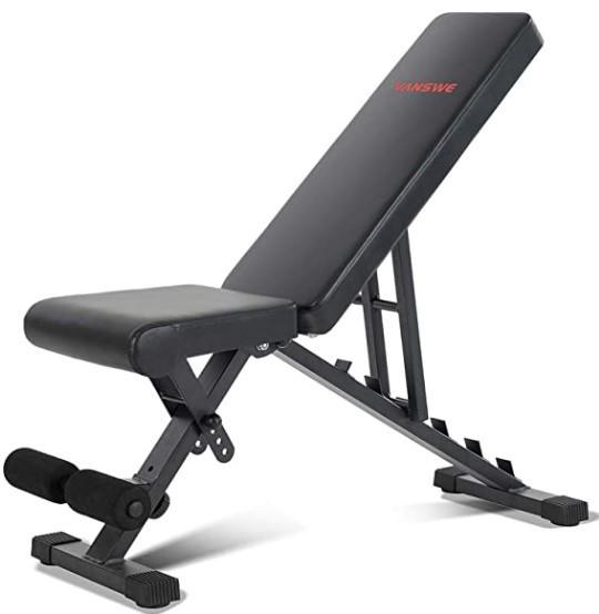 The Vanswe Adjustable Weight Bench