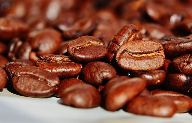 Close up image of coffee beans