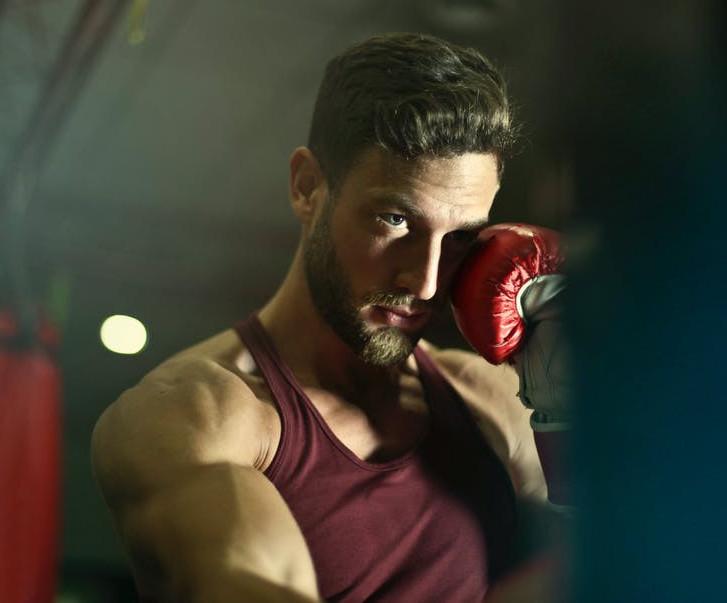 Close-up-shot-of-a-boxer