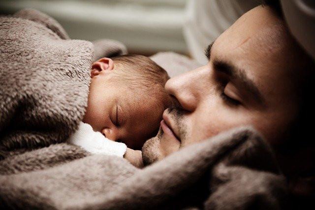 Man-and-baby-asleep