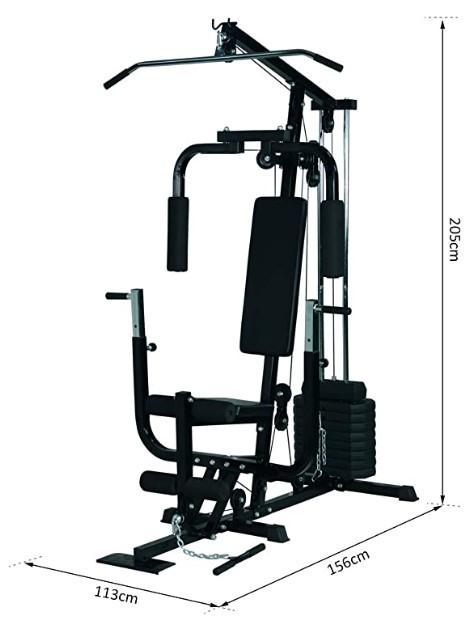 The HOMCOM Multi Gym measurements