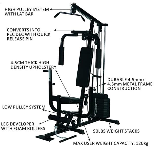 The HOMCOM Multi Gym features