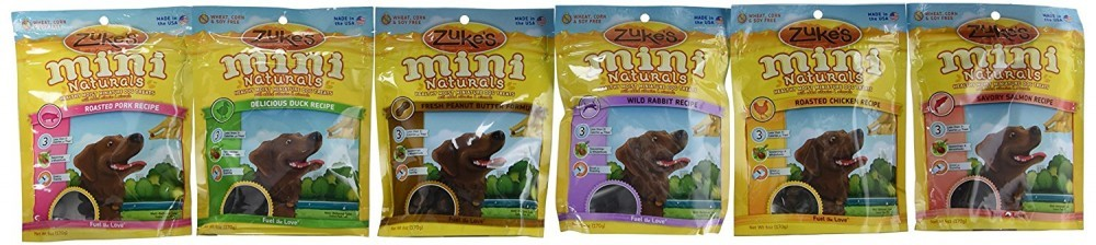 Zuke's Mini Naturals in Six Different Flavors
