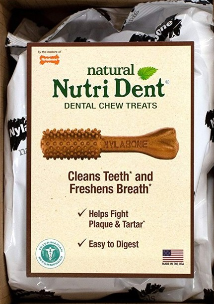 Nylabone Natural Nutri Dent Dental Chew Treats Filet Mignon Flavor