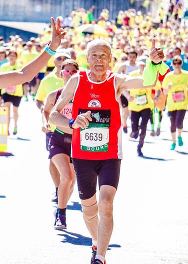 image older man running