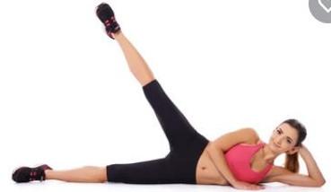 side leg raises- exercises with knee pain