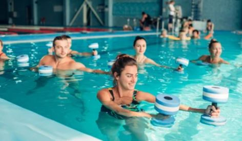 water aerobics- exercises with knee pain