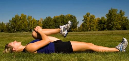 hamstring stretch- exercises with knee pain