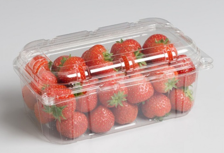 Strawberry plastic packaging