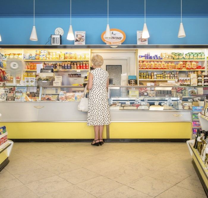 Store interior in the 70ies