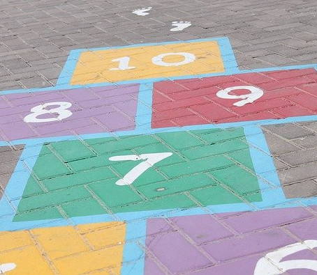 Visual Spatial Activities For Kids - Hopscotch