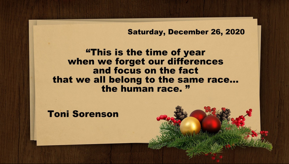 Saturday Christmas Quote