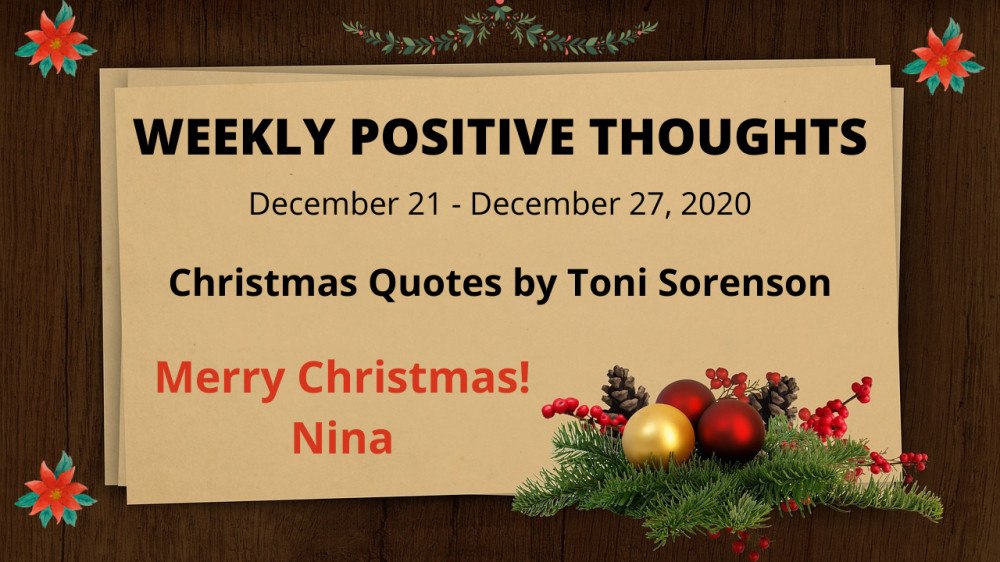 Weekly Positive Quotes – December 21 – December 27, 2020