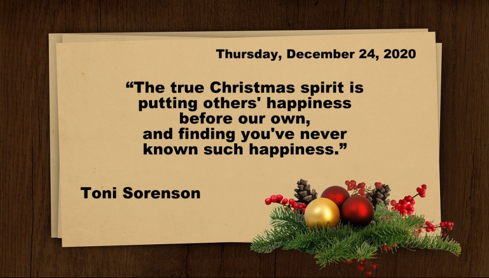 Thursday Christmas quote
