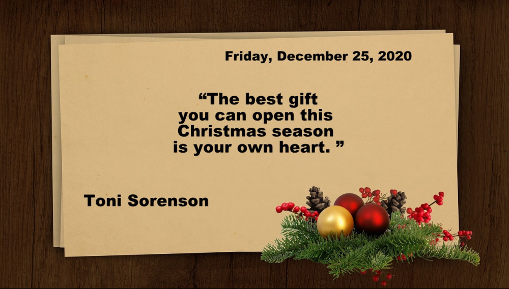 Friday Christmas quote