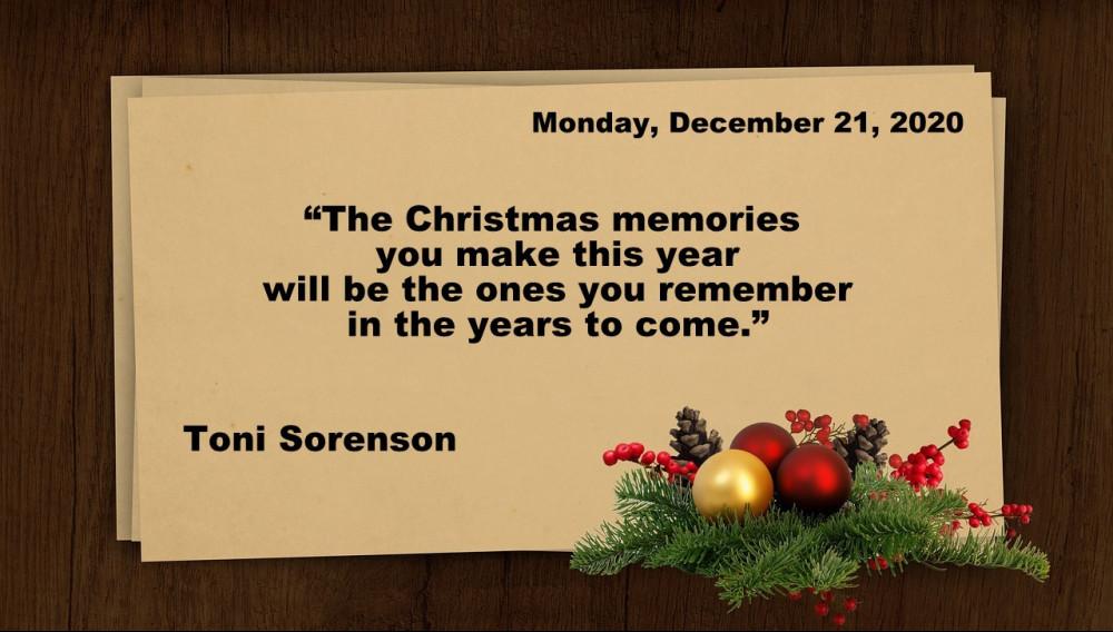 Monday, 21.12. Quote
