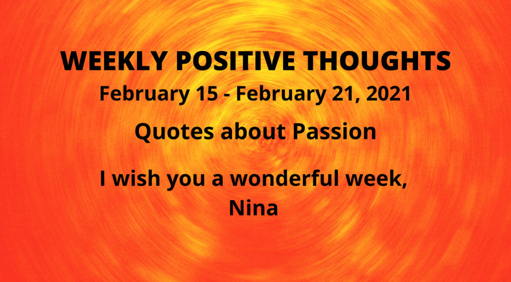 weekly positive quotes
