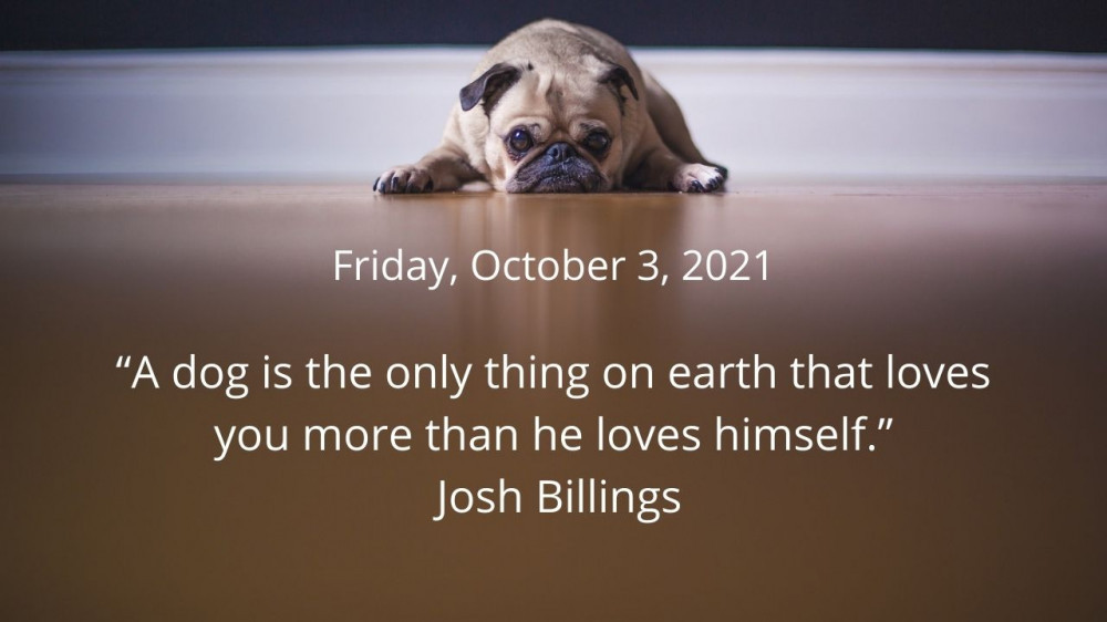 Quote for October 3