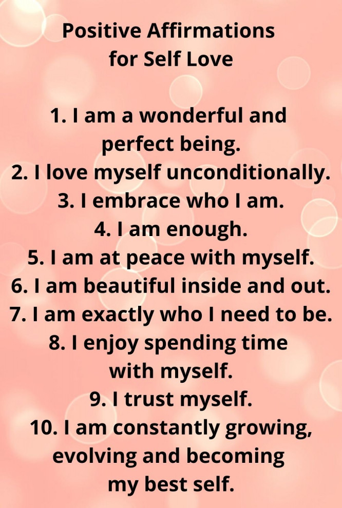 positive affirmations for self-love