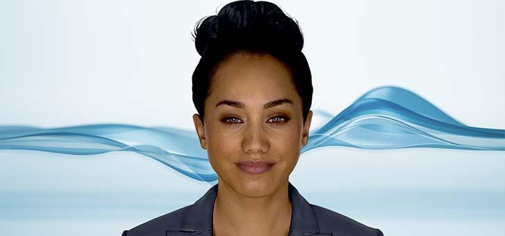 The original avatar of AVA, the Autodesk Virtual Agent.