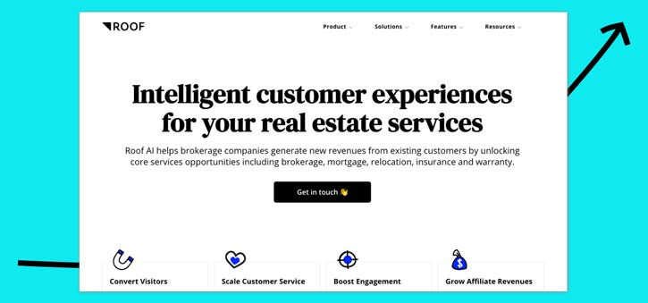 Roof.ai is another chatbot built specifically for the Real Estate market.