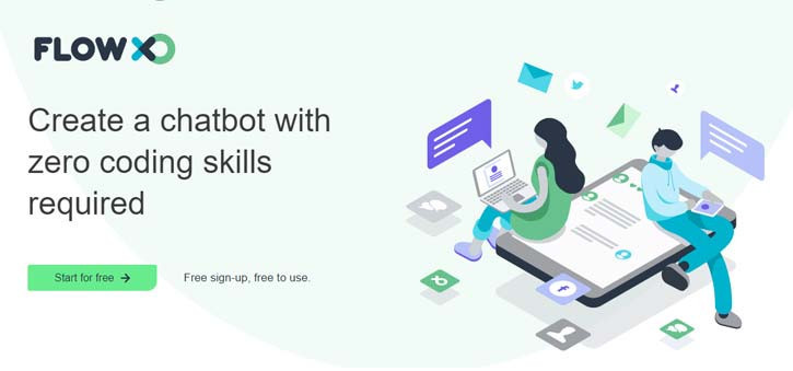 FlowXO offers a no code chatbot builder, making it a great option for those just starting out.
