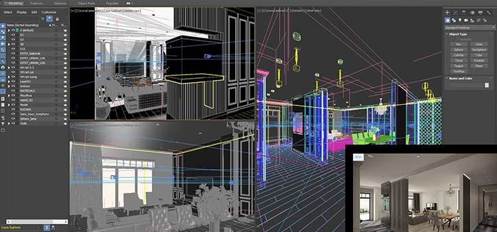 The Autodesk Files for an interior of a home.