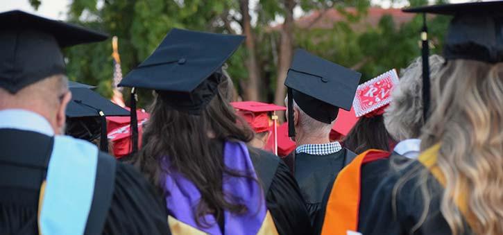College Graduates awaiting their Diplomas.